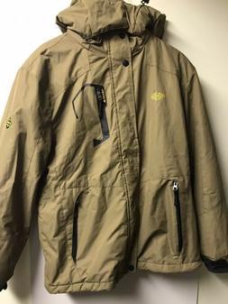 Wantdo Mens Hooded Winter Jacket Fur Lined Coffee Brown Size