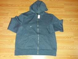 Mens Hoodie Fleece Zippered jacket Size XXL new Tags color M