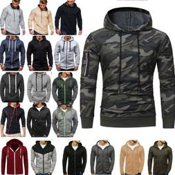 Mens Hoodie Sweater Sweatshirt Coat Jacket Pullover Outwear