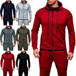 Mens Hoodie Sweatshirt Casual Hooded Coat Jacket Outerwear S