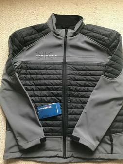 MENS HYBRID JACKET XL  soft shell-Puffer-Waterproof-NEW