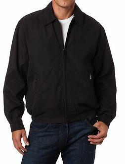 London Fog Mens Jacket Black Size 2XL Auburn Golf Zip-Front