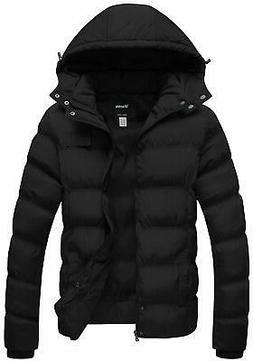 Wantdo Mens Jacket Black Size Large L Hooded Full Zip Long S