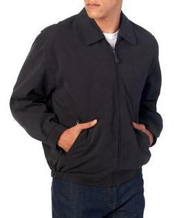 London Fog Mens Jacket Black Size Large L Zip-Front Golf Mic