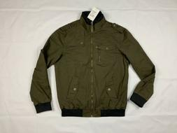 Wantdo Mens Jacket Black Size Large Military Front-Zip Stand