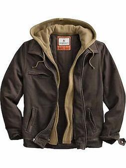 Legendary Whitetails Mens Jacket Brown Size LT Full-Zip Hood