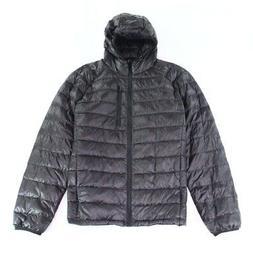 Wantdo Mens Jacket Deep Black Size Large L Front-Zip Packabl