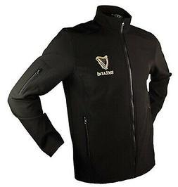 Mens Jacket Irish Harp Shell Jacket Black 100% Polyester,  z