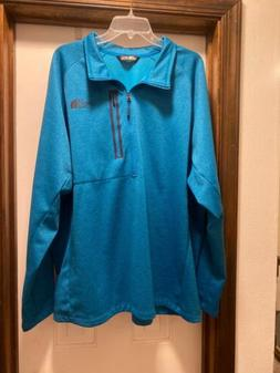 MENS~THE NORTH FACE~JACKET SZ 3XL 1/2 ZIP BLUE~PULLOVER~FLEE