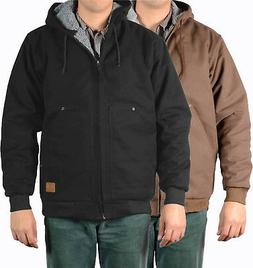 Mens Jackets Ben Davis Canvas Shell with Hooded, Fleece/Sher