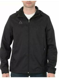 Gerry Mens Lightweight Jacket, Hooded, Docker Black, Size La