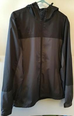 Gerry Mens Lightweight Jacket, Hooded, Docker Iron/Slate, Si