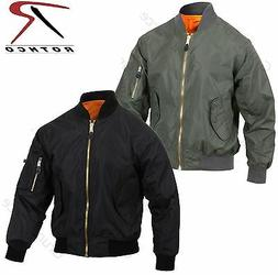 Mens Lightweight MA-1 Flight Jacket - Rothco Military Air Fo