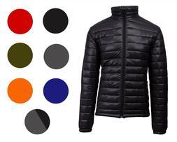 Mens Lightweight Ultrasoft Puffer Jacket Full Zip Water-repe