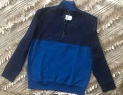 Nautica Mens Long Sleeve Quarter-Zip Sweater Fleece Warm Siz