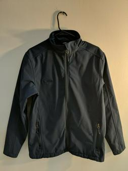 Port Authority Mens Medium Blue Jacket 100% Polyester Great