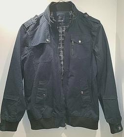 mens military jacket size l deep green