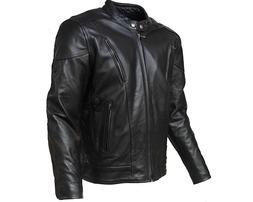 Mens Motorcycle Biker Leather Jacket