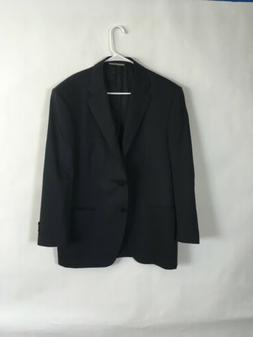 Mens Canali Navy Suit Jacket Size 44R Retail $1695