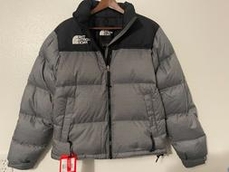 The North Face Mens Nuptse Down Puffer Jacket Gray Heathered
