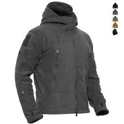 Mens Outdoor Winter Fleece Tactical Army Jacket Windproof Hi