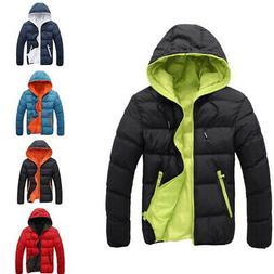 Mens Padded Bubble Hooded Coat  Jacket Winter Warm Bomber Ou