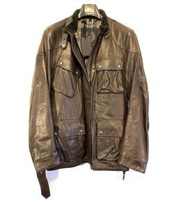 BELSTAFF Mens Panther Trialmaster Leather Jacket Dark Brown