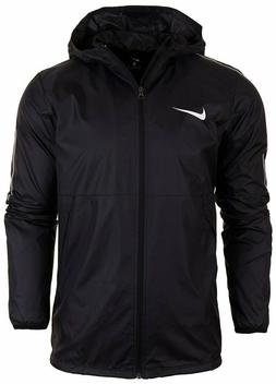 Nike Mens Park 18 Wind Rain Coat Jacket w Hood Large Black