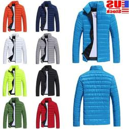 Mens Puffer Bubble Down Coat Jacket Winter Warm Quilted Padd