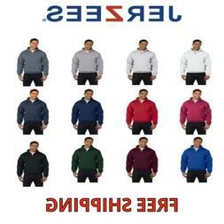 JERZEES Mens Quarter Zip Cadet Collar Sweatshirt 50/50 Fleec