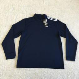 Men's Adidas Quarter Zip Golf Pullover Size Medium New Wit