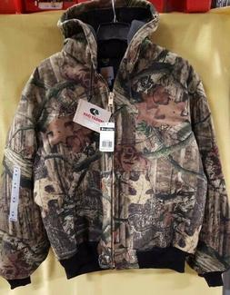 CARHARTT Mens Quilt Flannel Lined Active Jacket J221 Camo NW