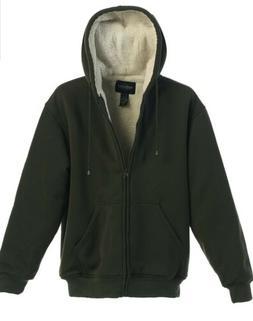 Gioberti Mens Sherpa Lined Pull Zip Fleece Hoodie Jacket, He