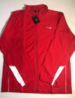 Nike Mens Size XL Dri Fit Athletic Full Zip Red Light Jacket