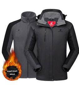 CAMEL CROWN Men's Ski Jacket 3 in 1 Waterproof Winter Jack