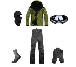 Mens Ski Jacket Pants Snowboard D01 Gloves Goggles Balaclava