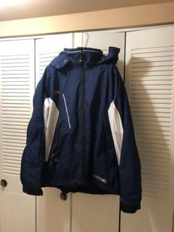 Kjus Men's Ski Jacket Size Large With Roll-up Hood