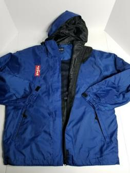 Port Authority Mens Small Levis Embroidered Blue Windbreaker