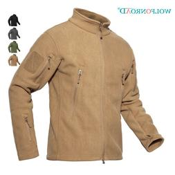 Mens Tactical Jackets Outdoor Parka Fleece Jacket Army Outwe