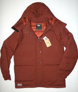 Vans Mens Teton Hooded Polyester Insulated Coat Jacket Mediu