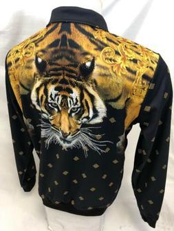 mens track jacket urban zip up black