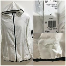 Adidas Mens White L S2S Windbreaker Full Zip Hoodie Light Ja