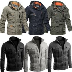 Men's Winter Jacket Hiking Tactical Coat Soft Shell Military