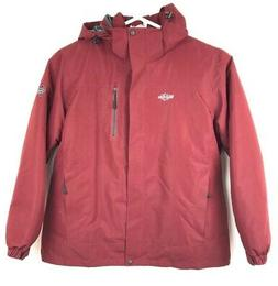 Wantdo Mens Winter Mountain Ski Rain Jacket Red Waterproof W