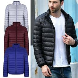 Mens Winter Warm 90% Duck Down Jacket Hooded Bubble Thicken