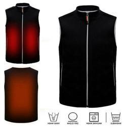 Mens Women USB Heated Vest Jacket Coat Electric Battery Heat
