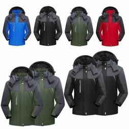 Mens Women Winter Warm Outdoor Jacket Fleece Lined Waterproo