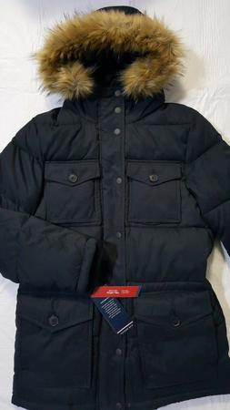 Tommy Hilfiger Men's Micro Twill Full-Length Hooded Parka Co