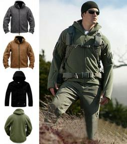 Military Man Fleece Tactical Softshell Jacket Polartec A hoo