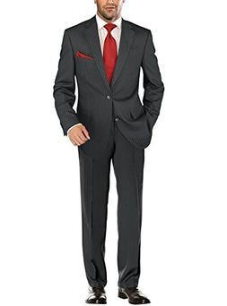 Salvatore Exte Men's Modern Two Button Jacket Flat Front Pan